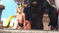 1elf 1girls 3d animated blood_elf demon_hunter elf from_behind horsecock monster noname55 rae size_difference sound tagme tauren webm world_of_warcraft