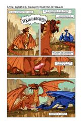 christinastrain comic crotch_sniffing dragon dragonriders_of_pern duo edit english_text erection female feral hi_res male male/female penis penis_sniffing quadruped scalie sniffing text uncensored western_dragon wings