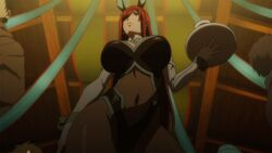 animated animated_gif bouncing_breasts breasts bunnysuit erza_scarlet fairy_tail fake_animal_ears highleg_leotard screen_capture