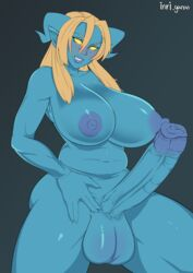 1futa areolae balls big_breasts breasts dickgirl draenei erection futa_only futanari horns huge_cock inriganan large_breasts looking_at_viewer nipples nude penis solo testicles world_of_warcraft