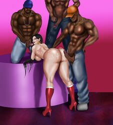 alternate_version_available ass big_ass blacked breasts bukkake cum cum_on_ass cum_on_body dc diana_prince female interracial mostly_nude multiple_boys naked_with_shoes_on sideboob wonder_woman wonderdraws
