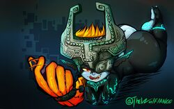 absurd_res armor ass big_butt feet female headgear helmet hi_res huge_butt humanoid imp_midna long_ears midna naughty_face nintendo seductive smile the_legend_of_zelda thecon thick_thighs tongue twilight_princess video_games wolflance