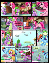 friendship_is_magic kitsune_youkai my_little_pony pinkie_pie_(mlp) rainbow_dash_(mlp) spike_(mlp) tagme