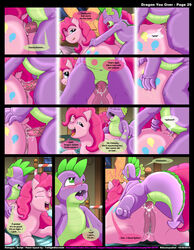 2012 anal anal_insertion anal_sex anus bed candy comic dialogue duo english_text equine erection female flaccid friendship_is_magic horse insertion inside kitsune_youkai male my_little_pony night on_front penetration penis pillow pinkie_pie_(mlp) pussy sleeping spike_(mlp) text