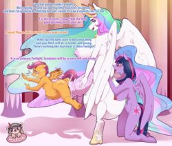 1futa 2girls alexz_(artist) anilingus anthro breasts crying dialogue friendship_is_magic furry futanari huge_balls huge_cock hyper hyper_balls hyper_penis implied_cannibalism intersex large_breasts my_little_pony nudity penis princess_celestia_(mlp) princess_twilight_sparkle_(mlp) rimjob scootaloo_(mlp) sex size_difference smaller_female source_request stomach_bulge testicles text tongue_out twilight_sparkle_(mlp)