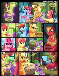 apple_bloom_(mlp) applejack_(mlp) friendship_is_magic kitsune_youkai my_little_pony pinkie_pie_(mlp) rainbow_dash_(mlp) spike_(mlp) tagme