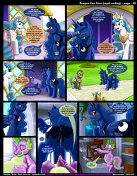 alicorn blowjob comic crotchboobs cum cum_in_mouth cum_on_face dragon equine female friendship_is_magic horn horse kitsune_youkai male my_little_pony penis pony presenting presenting_hindquarters princess_celestia_(mlp) princess_luna_(mlp) scalie spike_(mlp) teats vaginal_penetration wet_pussy wings