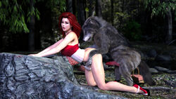 cassidy dizzydills high_heels hump_position preparation red_hair wolf wolf_tail