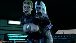 1girls 1monster 3d ambiguous_penetration animated breasts cassie_cage doggy_style exposed_breasts gritted_teeth half-dressed implied_futanari light-skinned_female looking_back marcossfm mortal_kombat mortal_kombat_x no_sound restrain short_hair sindel tagme webm