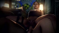 1boy 1girls 3d anal anal_penetration anal_sex animated brown_hair claire_redfield eyes_rolling_back female fyklib head_tilt hetero male no_sound pale-skinned_female pale-skinned_male pale_skin penetration resident_evil reverse_cowgirl_position sex straight webm