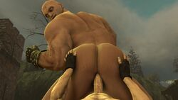 2boys 3d anal_penetration anal_sex bald bara big_ass gay hand_on_ass letho_of_gulet looking_at_viewer male_only muscles muscular muscular_male no_sound tagme the_witcher the_witcher_3:_wild_hunt thrusting_into_ass volt_krueger webm yaoi