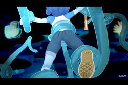 3d animated barefoot baseball_bat baseball_cap baseball_uniform blue_hair blue_skin blush captured cartoon_network cave clothed clothing emotionless expressionless eyelashes female female_focus female_only from_behind grabbing hair lapis_lazuli_(steven_universe) liquid midriff mostly_clothed neck_grab open_mouth penetration pussy sex shoes skuddbutt slime smile steven_universe teeth tentacle tentacle_sex tied tied_up torn_clothes torn_pants underwater unimpressed vagina vaginal_penetration