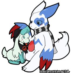 alpha_channel fur hi_res legendary_pokémon male male/male nico_(shaymin) nintendo oral petting pokémon_(species) pokemon screamoshaymin shaymin shaymin_(sky_form) video_games white_fur zangoose